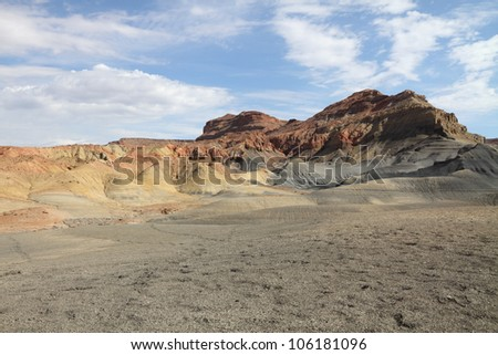 Desert landscape in Page, Arizona - stock photo