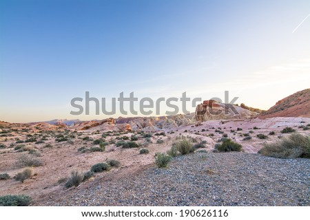 Desert Landscape, Valley of Fire State Park, Nevada, USA  - stock photo