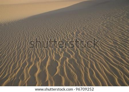 Desert lines - stock photo