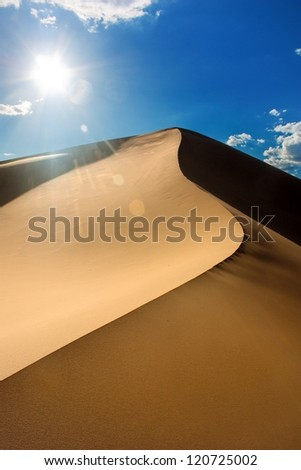desert - mongolia - stock photo