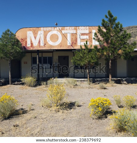 Desert Motel - stock photo