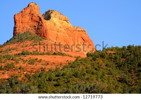 Desert Mountains and rock formations at sedona arizona