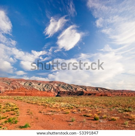 Desert of Arizona state - stock photo