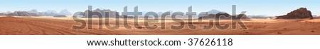 desert panorama - stock photo