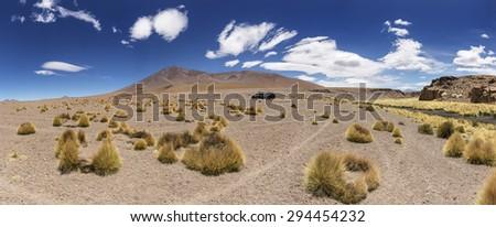 Desert Panorama , Bolivia - stock photo