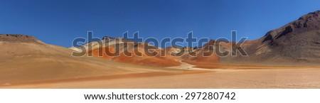 Desert panorama, Bolivia - stock photo