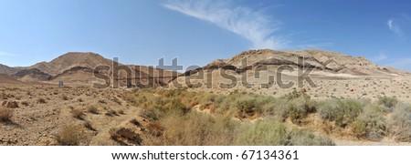 desert panoramic view, Israel - stock photo