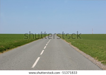 desert road in the countryside