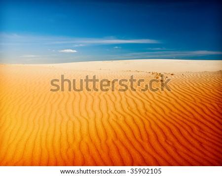 desert sahara - stock photo