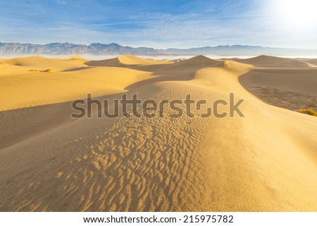 Desert Sand Dunes at Death Valley National Park - stock photo