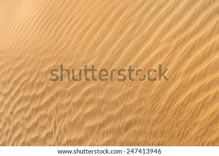 Desert sand dunes pattern is a very beautiful natural background - stock photo