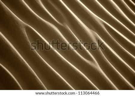 Desert sand pattern, Sahara desert in Morocco. - stock photo