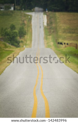 Deserted highway. - stock photo