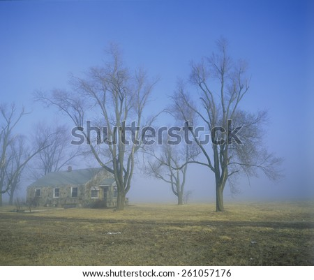 Deserted House, Springfield, Missouri - stock photo