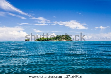 Deserted small island near Nosy Be, Madagascar - stock photo