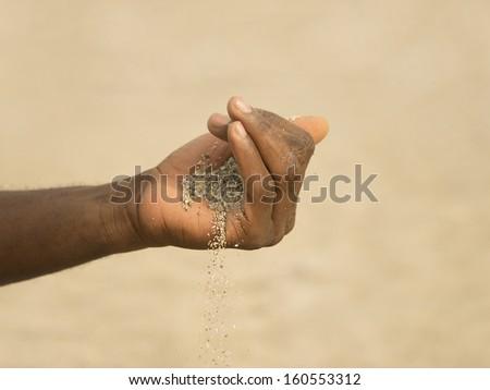 desertification in the Sahel 3 - stock photo