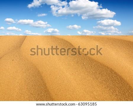 Deserts dune - stock photo