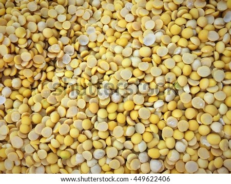Desiccated soybean prepare for cooking.Top view shot. - stock photo