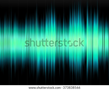Design abstract digital sound wave on a black background. - stock photo