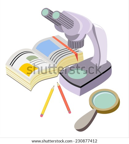 design concept science research education  - stock photo