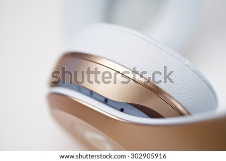 Design detail of wireless headphone - stock photo