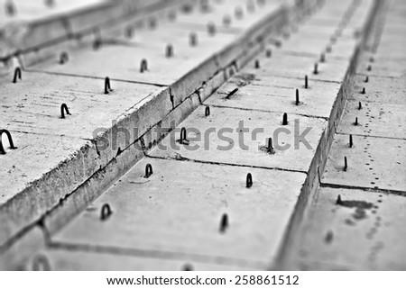 design element.  concrete blocks abstract construction - stock photo