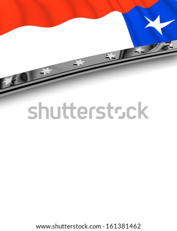 Design Element Flag of Chile - stock photo