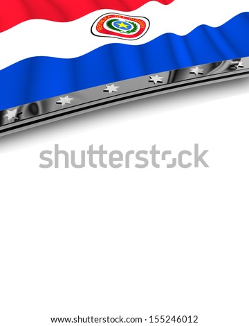 Design Element Flag of Paraguay - stock photo