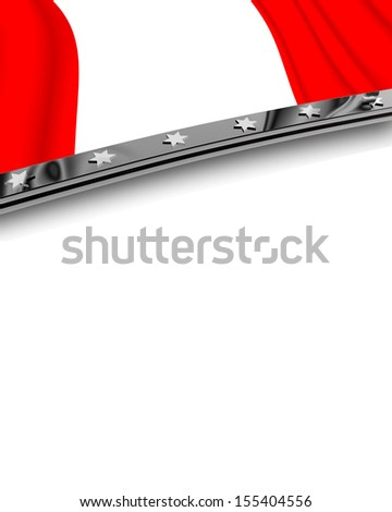 Design Element Flag of Peru - stock photo