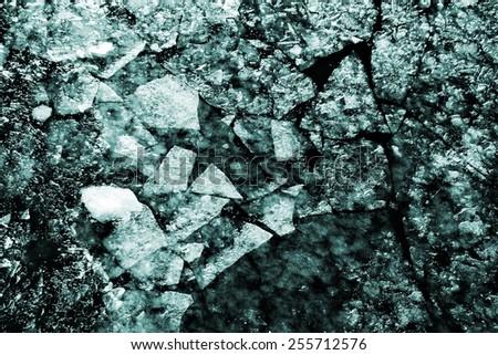 design element.  ice sea image - stock photo