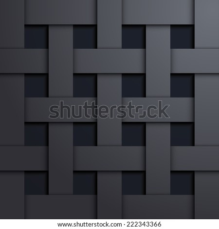 Design elements of dark metal - stock photo