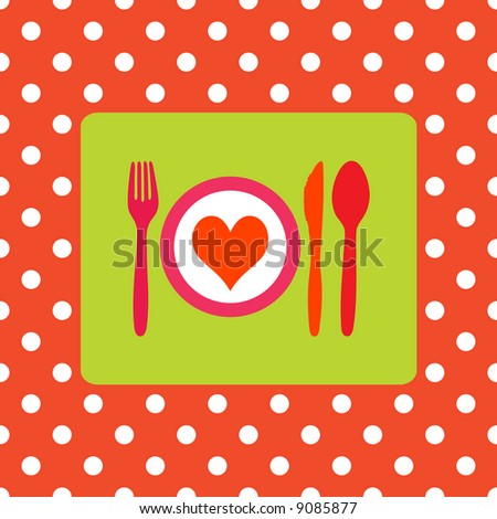 Design for healthy food, healthy meal or valentine dinner - stock photo