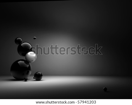 design from sphere - stock photo