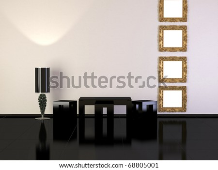 Design interior of elegance modern living room, minimalism, similar compositions available in my portfolio - stock photo