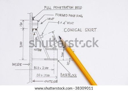 Design of pressure vessel concept - many uses in the oil and gas industry - stock photo