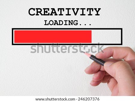 Design of progress bar, loading creativity - stock photo