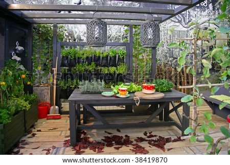 design of seasonal home garden