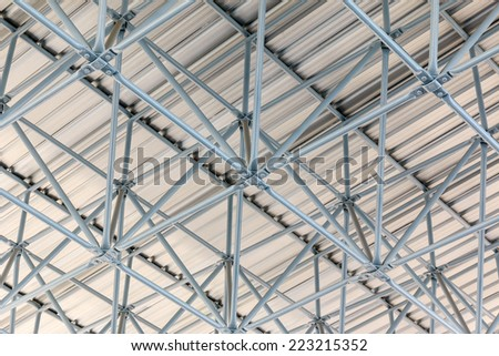 Design of steel roof, background - stock photo