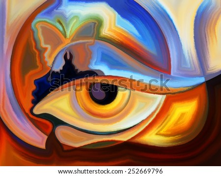 Design on the subject of intuition and inner vision - stock photo