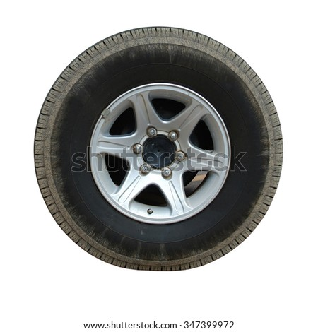 Design pattern of car wheel, tires car wheel, car wheel on white background