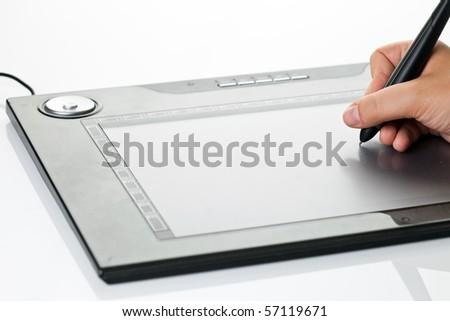 Design tablet - stock photo
