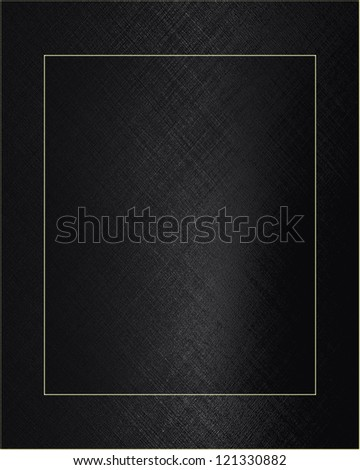 Design template. Beautiful black background with black nameplate - stock photo