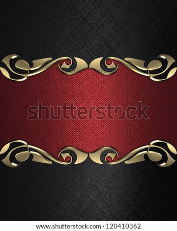 Design template - Black background with a gold name plate with patterns on the edges