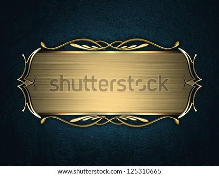 Design Template Blue Texture Beautiful Gold Stock
