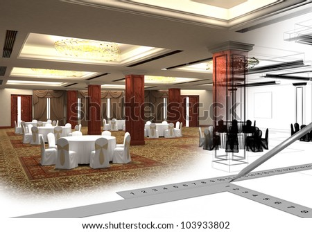 design the project of restaurant