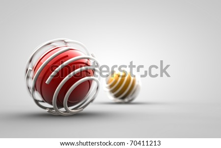 Design - trapped ball - stock photo
