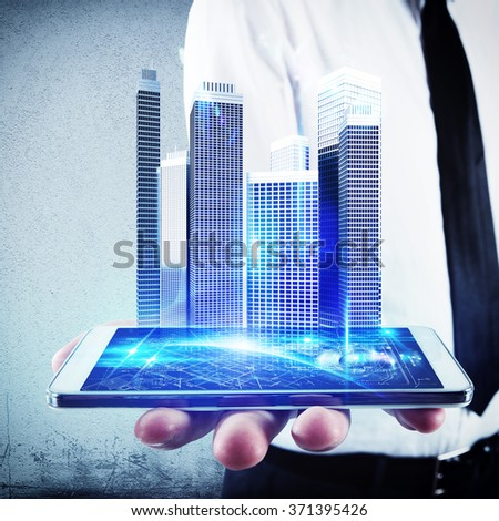 Design with technology - stock photo