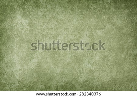 Designed Green grunge texture / paint background. For vintage wallpaper, old paper, and art border frame - stock photo