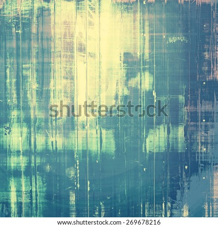Designed grunge texture or retro background. With different color patterns: blue; yellow (beige); cyan; gray - stock photo