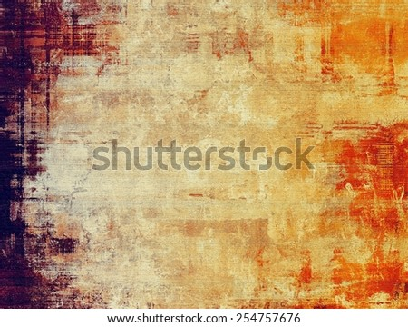 Designed grunge texture or retro background. With different color patterns: yellow (beige); brown; purple (violet); red (orange) - stock photo